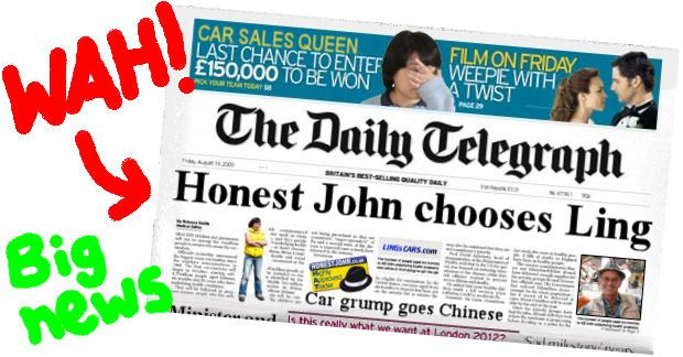 Honest John chooses Ling